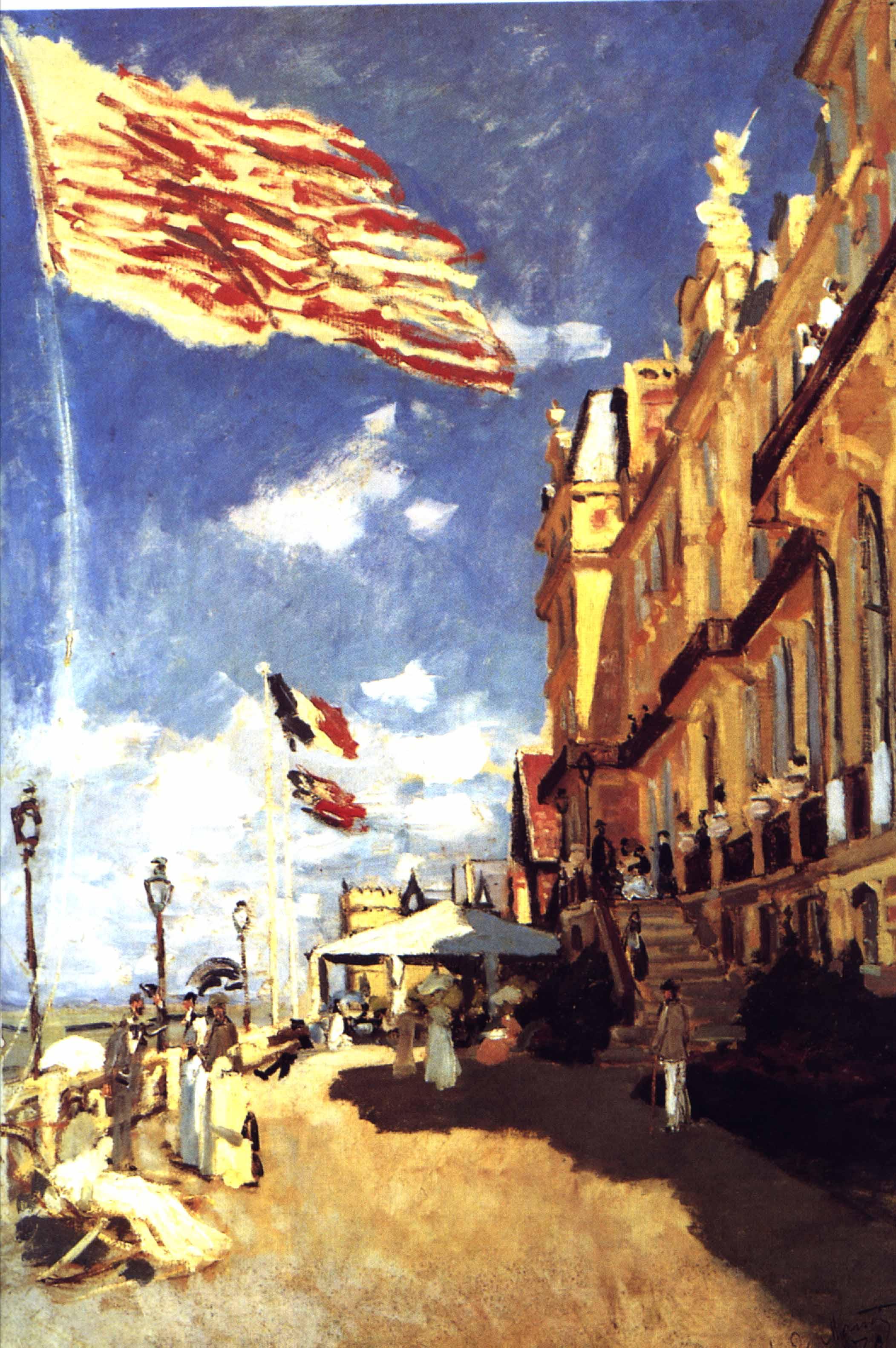 Hôtel des Roches Noires à Trouville, par Claude Monet